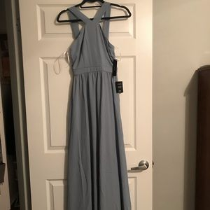 "Lulu's ""Air of Romance"" Dress in Light Blue"